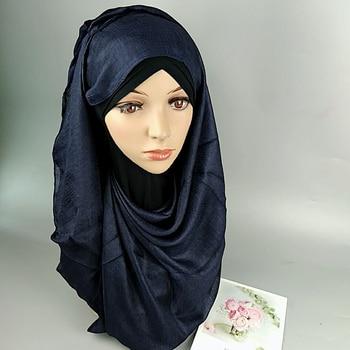 2019 Silk Crinkle Hijab Women Muslim Chiffon Hijab Scarf Long Head Scarf Female Foulard Hijab Shawl Pashmina Scarf Sjaal factory outlet silk jacquard scarf muslim square hijabs shawl ethnic ultralight foulard hijab islamic women s accessories