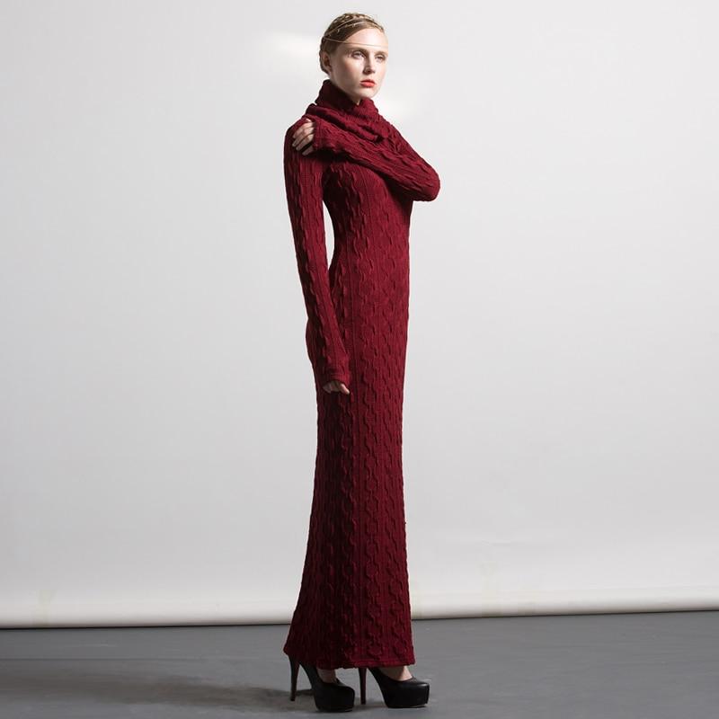 gebreide lange jurken
