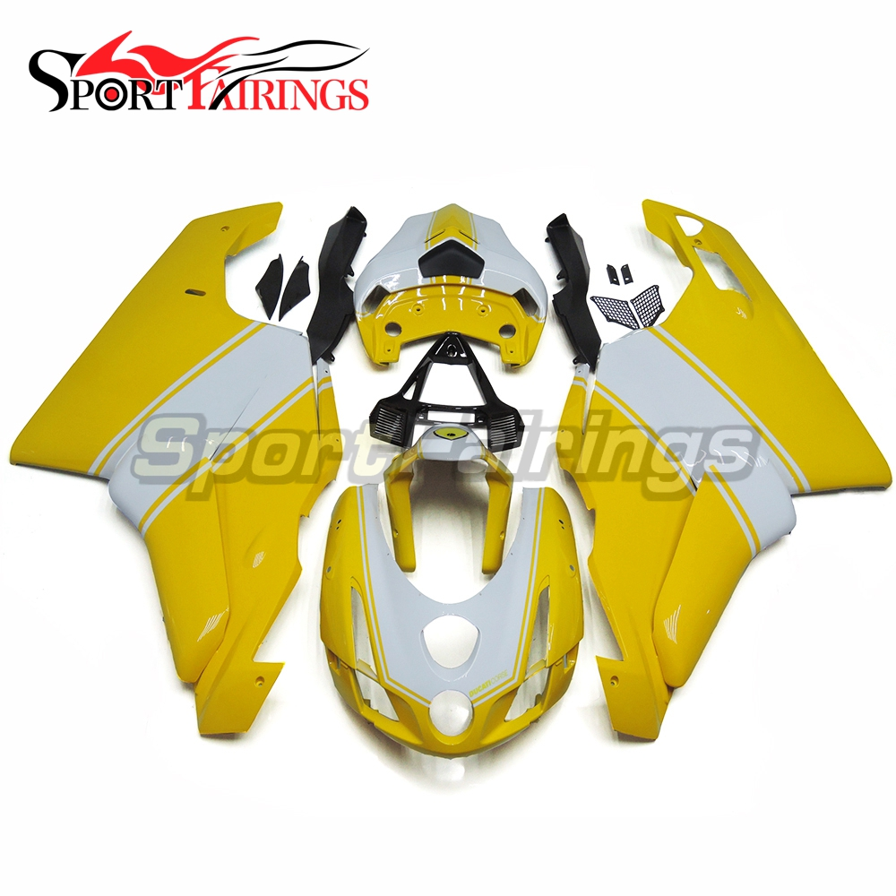 Yellow White Injection Fairings For DUCATI 999 749 999s 749s 03 04 2003 2004 ABS Plastic Motorcycle Fairing Kit Cowling Panels