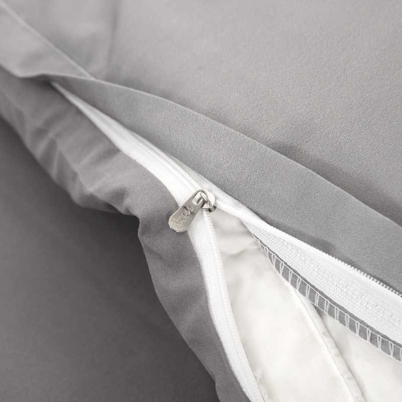Пододеяльник ее сторона его сторона серый белый комплект постельного белья один Твин Полный queen king размер полиэстер постельное белье Прямая поставка