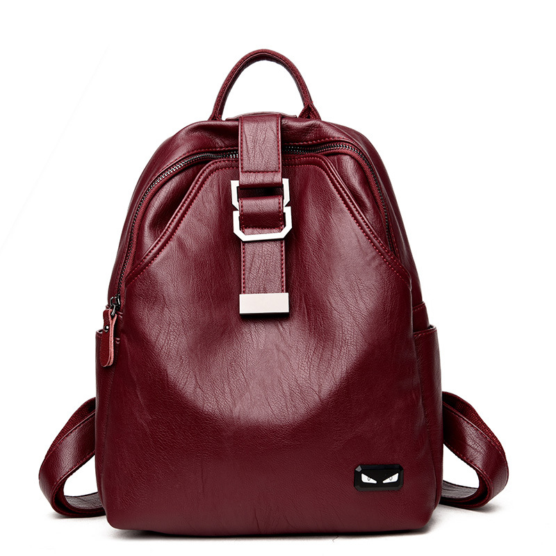 Fashion Pu Women Backpack High Quality Solid Youth Leather Bagpack School Travel Female Shoulder Bags For Teenage Girls Mochila high quality fashion rock band backpack for teenage women men casual daypack college student preppy school backpack travel bags