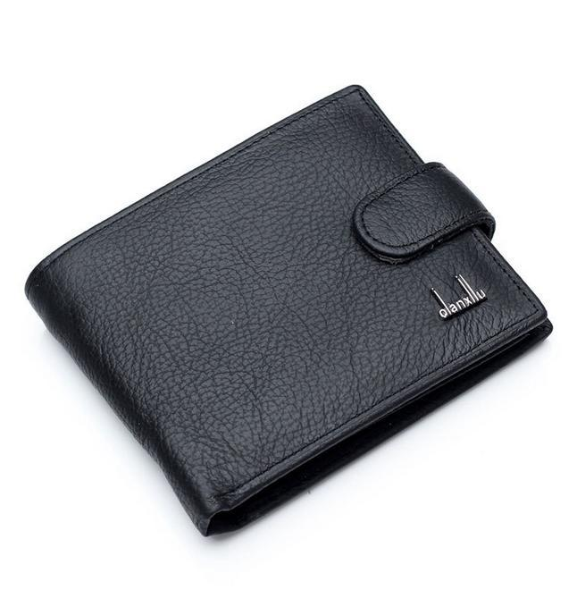 140c2344bfa0 Hot Sale New fashion black genuine leather men wallet with coin change  pocket hasp zipper purse wallets for men free shipping-in Wallets from  Luggage   Bags ...