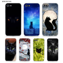Transparent Soft Silicone Phone Case Black Cat Staring Eye On for iPhone XS X XR Max 8 7 6 6S Plus 5 5S SE