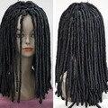 xiuli 0003394 Dreadlocks American African Wig Long Rolls Curls Hair Cosplay Costume Black Wigs