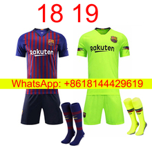 5394aa2ec 2018 2019 adult Barcelonaes home soccer jersey 18 19 camisetas survetement football  shirt(China)
