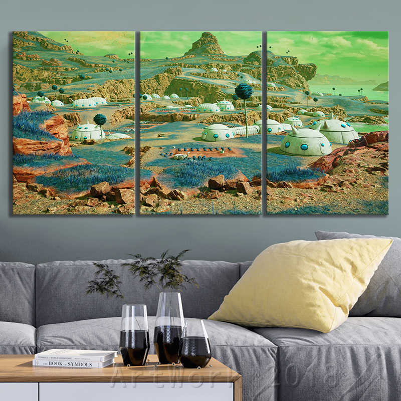 Dragon Ball Namek World Game Scene Landscape Frameless Painting JUMP FORCE Video Games Art Canvas Paintings Wall Art Home Decor 3