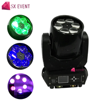 4pcs/lot best price Night Club Rotating Light DMX 512 6x40W RGBW Bee Eyes LED Moving Head Light ZOOM Function dj light