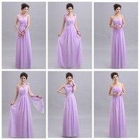 Beauty Emily Purple Long Chiffon Blush Pink Bridesmaid Dresses 2019 A Line Vestido De Festa De Casamen Formal Party Prom Dresses