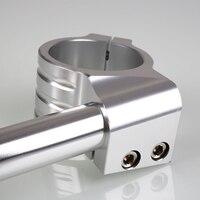 1pair Universal Aluminium Alloy Motorbike CNC Fork Tube Adjustable Clip On Handlebars 31/32/33/35mm NJ88