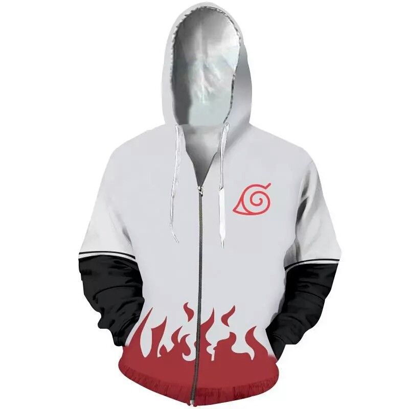 3D Printed Pullovers Sportswear Sweatshirts 2018Naruto Hoodies Men Spring male Zipper Hoodie Naruto cosplay Long sleeve clothing