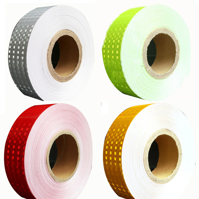 (20 rolls/lot)  Wholesale Mix color Reflective Warning Conspicuity Tape conspicuity strips Tape for Trailer Truck 45m/roll