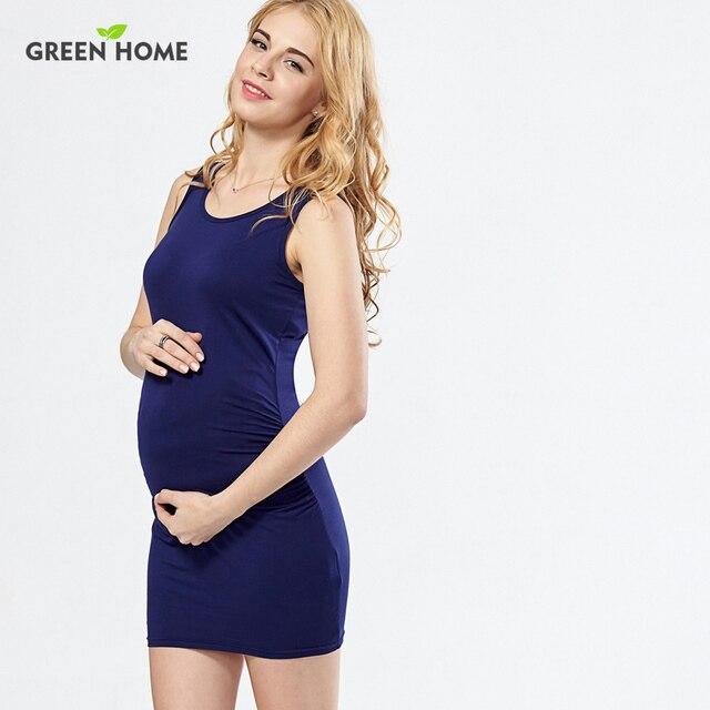 Manches Maison Robe D'été De Verte Jersey Fitness Maternité Sans dxoCrBWe