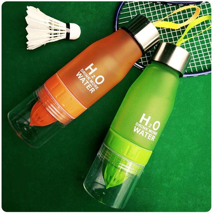 HTB13A.XkStYBeNjSspkq6zU8VXad Transhome Creative Fruit Infuser Water Bottle 650ml Portable Plastic Water Bottle For Lemon Juice Sport Drinking Water Bottles