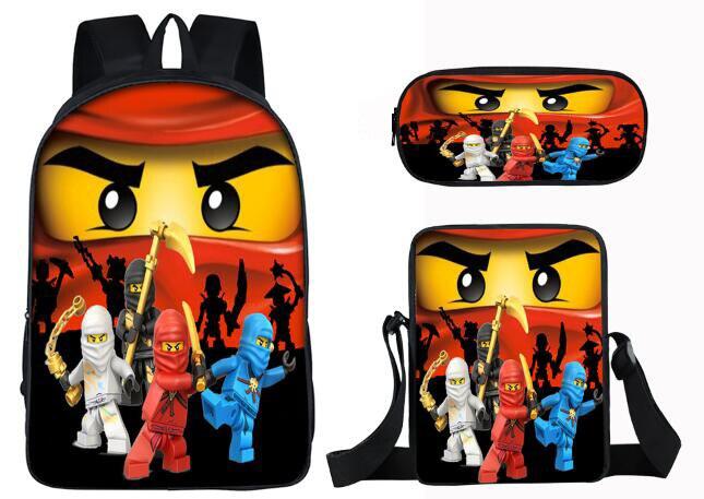 3pcs Set Super Mario Ninja Batman School Bags for Children kids School  Backpack for Girls cf947a32ac287