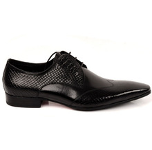 QYFCIOUFU Brand Classic Genuine Leather Men Pointy Shoes Oxford Lace Up Wedding Party Man Black Brown Snake Pattern Dress Shoes