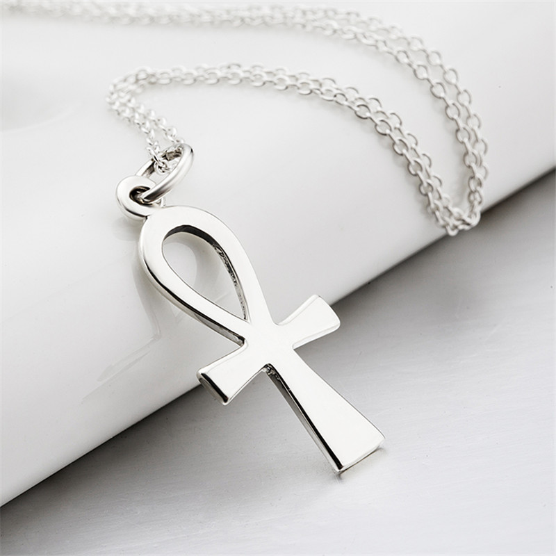 Women men 925 sterling silver cross pendants necklaces religious women men 925 sterling silver cross pendants necklaces religious ankh egyptian peace faith necklace christmas gift in pendant necklaces from jewelry aloadofball Choice Image