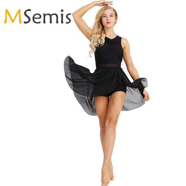6ba3898d6 Promoción Leotardos de Ballet para mujer vestido adulto recortado ...