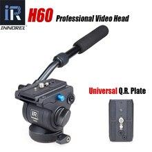 H60 panoramique trépied tête hydraulique fluide vidéo tête pour monopode curseur Manfrotto 501PL plaques compatible mieux que JY0506H