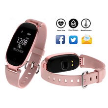 S3 Elegant Lady Smartwatch Bluetooth Waterproof Sport Bracelet Activity Tracker GPS HR Women Gorgeous Remote Camera Selfie