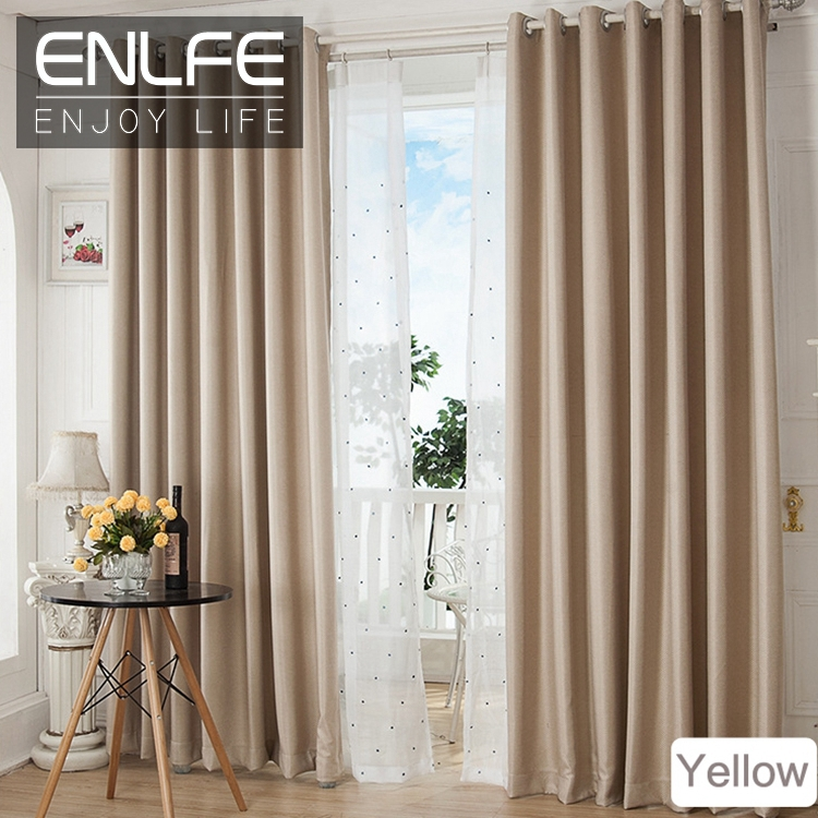 Aliexpress Buy ENLFE New hot sale Home Textile fashion curtain window luxury living room curtains modern solid sheer cafe curtains CL from