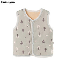 New Children's Vest for Boys Spring Autumn Wool Baby Vests Fashion Waistcoat for Boys Baby Clothes Kids Tops Jackets Colete