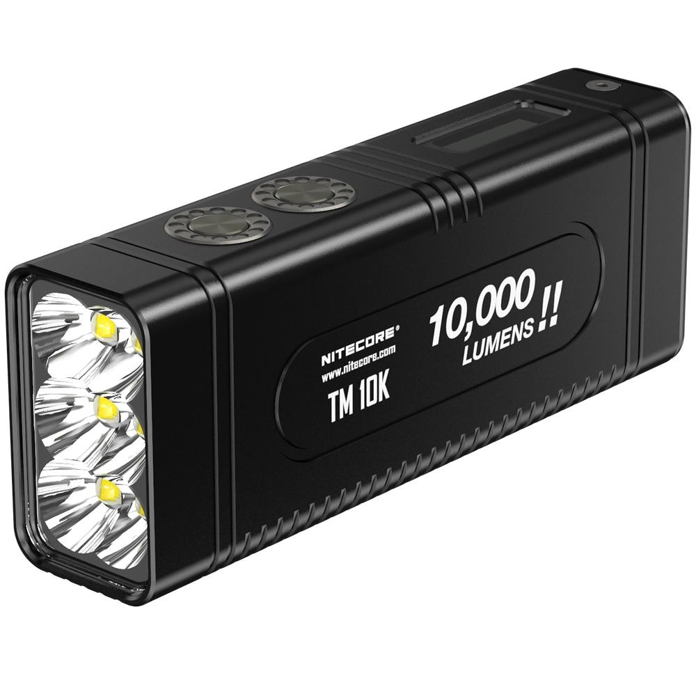 NITECORE TM10K LED Flashlight Tiny Monster CREE XHP35 HD 10000 LM Rechargeable Hight Light Flashlight Built-In 4800mAh Battery