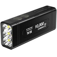 NITECORE TM10K LED el feneri küçük canavar CREE XHP35 HD 10000 LM şarj edilebilir yüksek ışık el feneri dahili 4800mAh pil