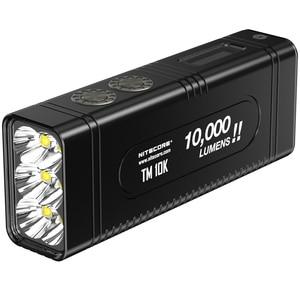 Image 1 - NITECORE TM10K مصباح ليد جيب صغير الوحش كري XHP35 HD 10000 LM قابلة للشحن هايت ضوء مصباح يدوي المدمج في بطارية 4800mAh