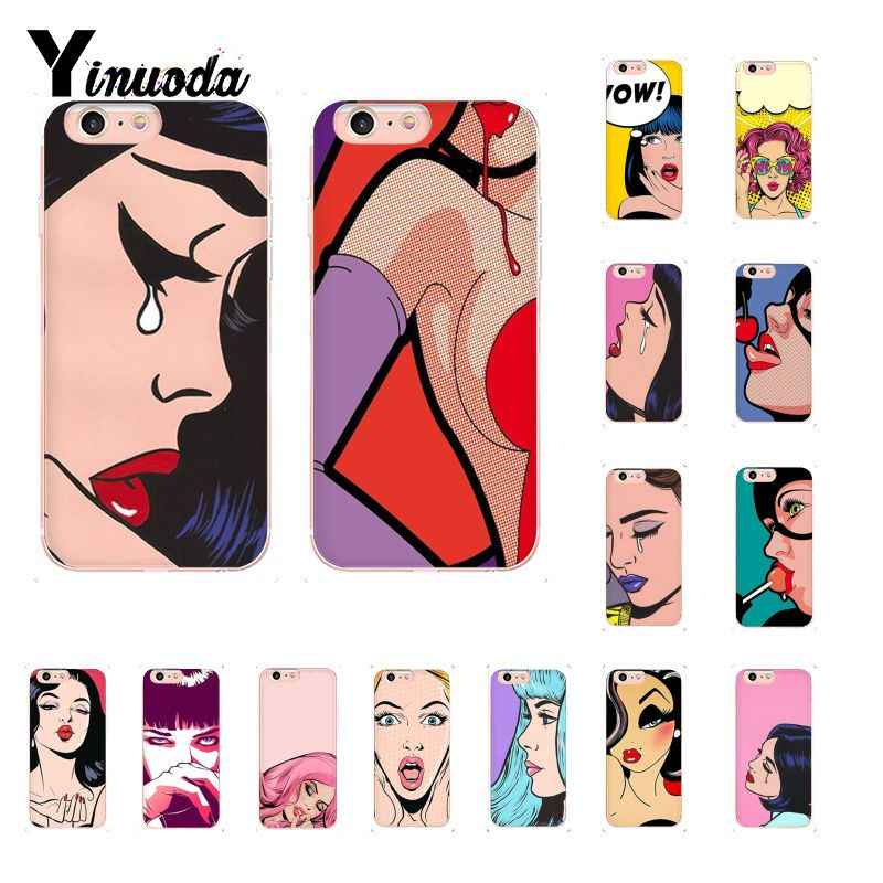 Yinuoda Pop Art Komik TPU Ponsel Case Penutup Shell UNTUK iPhone 8 7 6 6S Plus X XS Max 5 5S SE XR 10 Fundas Capa