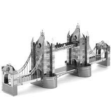 London Tower Bridge Fun 3d Metal Diy Miniature Model Kits Puzzle Toys Children Educational Boy Splicing Science Hobby Building