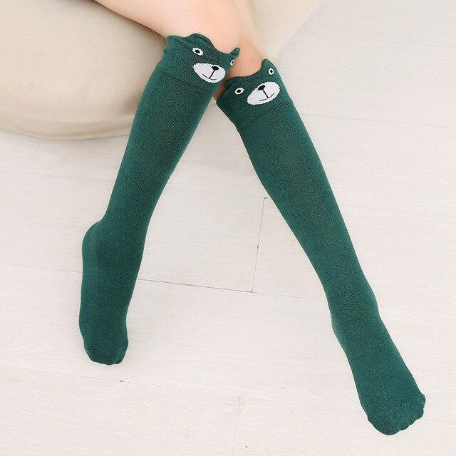 cd6505f8a Autumn Baby Girl Leg Warmers Kids Cotton Fox Bear Long socks Knee high Leg  Warmers Fox Children Cotton Socks D0229