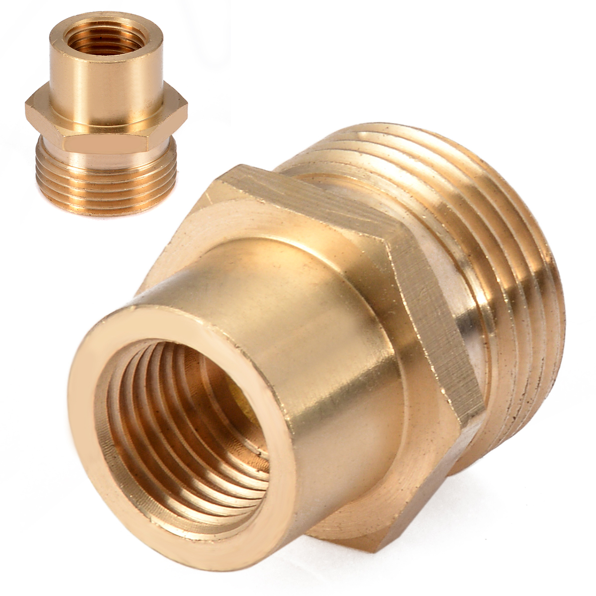 Water Pipe Connector Adaptor Parts Fitting Brass Tube 6//12PCS Aluminum Alloy