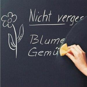 1pc School Blackboard Sticker Removable Vinyl Rescalable Research Board Message Board 45x100cm (Without Chalk)
