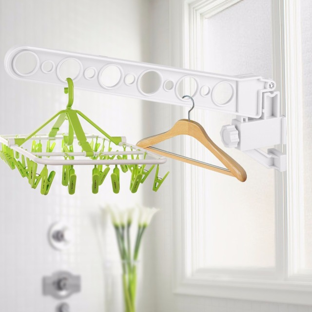 15 Inch 12 Holes Clothes Hanger Foldable Window Hanger Clothes