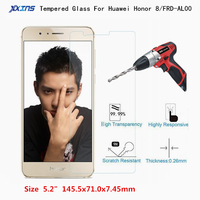 Tempered Glass For Huawei Honor 8 Screen Protect smartphone Mobile Phone Protective Film 5.2 inch FRD-AL00