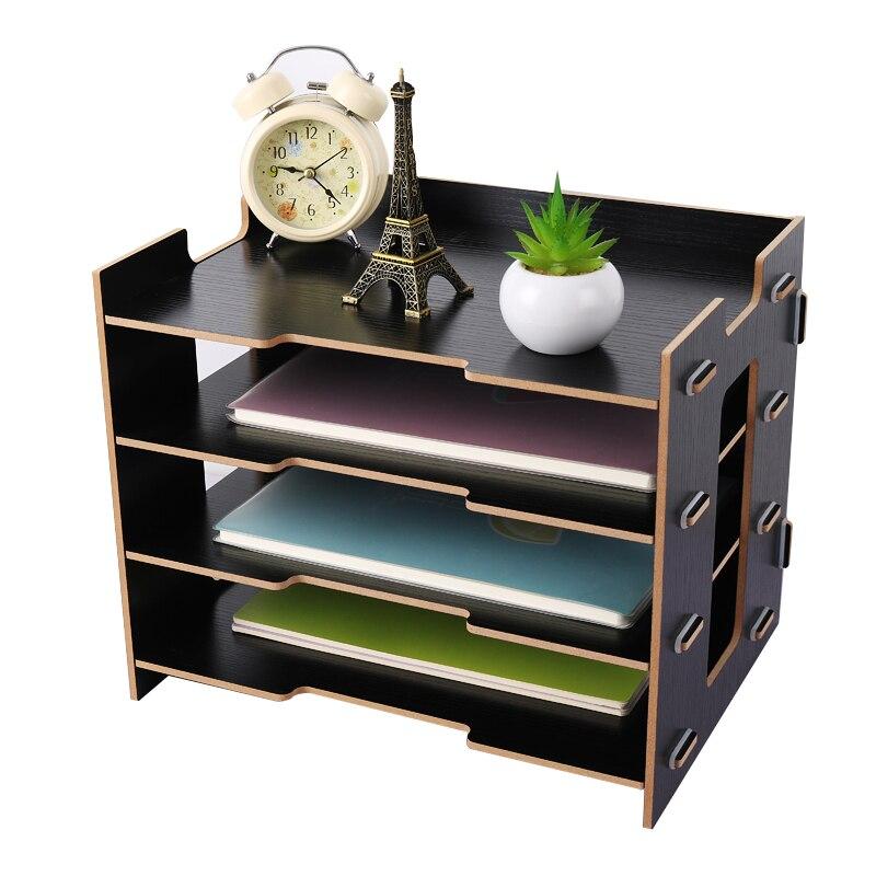 Деревянный держатель для журналов, экологичный держатель для файлов, Настольные принадлежности, органайзер, папка для файлов, стеллажи, коробка для хранения