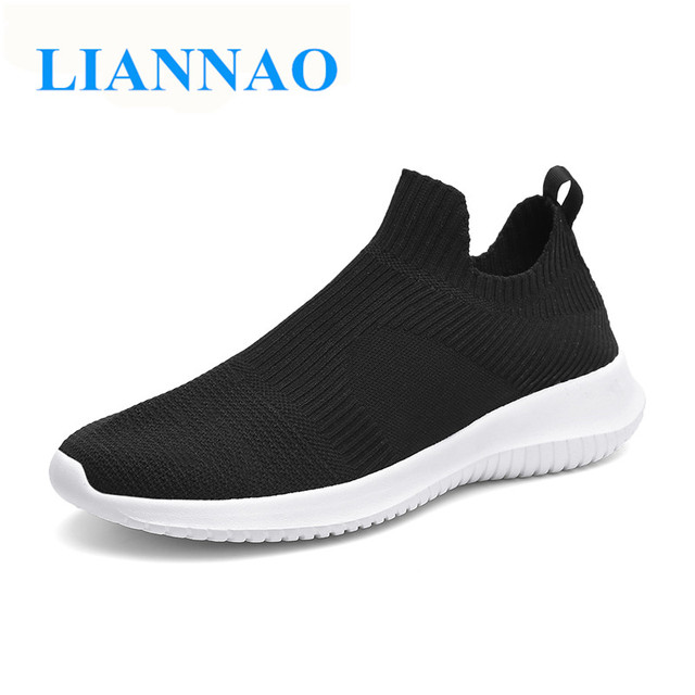 New Men Loafers Fashion Casual Shoes Men Summer Light Comfortable Sneakers Men Breathable Sock Shoes Slips on tenis masculino