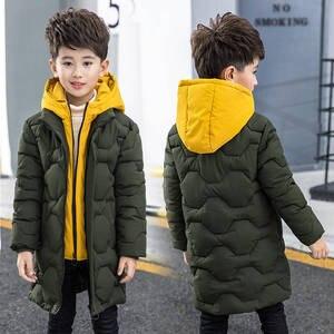Image 3 - Boys cotton coat 2019 new childrens mens winter down jacket cotton child big child fake two cotton jacket thick coat
