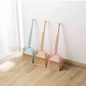 1 Set Baby Mini Sweeping House Cleaning Toys Set Child Mop Broom Dustpan Set Telescopic Pretend Play Toys Kids Gifts(China)
