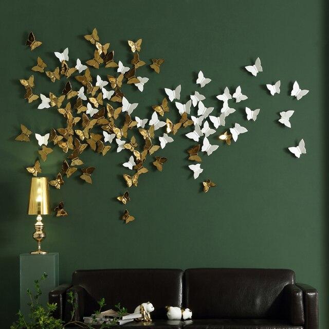 1 Pc Creative 3d En Ceramique Papillon Decoration Murale Mur