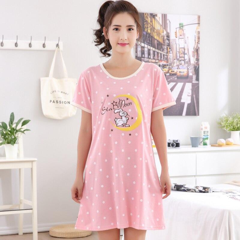 Brand Summer Cotton Nightgown Women Sweet Girl Lounge Nightdress ...
