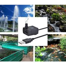 USB Mini Submersible Water Pump For Aquarium Fish Fountain Small Fish Tank Pet Water Dispenser