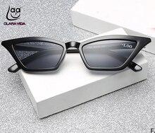 CLARA VIDA 2018 New Trend CatEyes Small Frame Polarized Sunglasses Custom Made Myopia Minus Prescription Lens -1 to -6