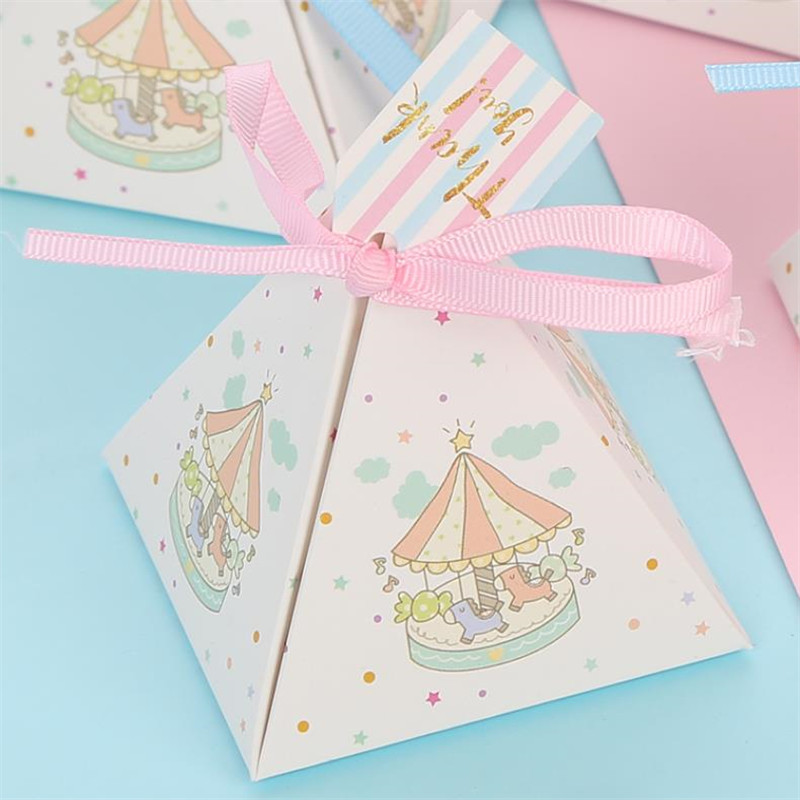 Unique Carousel Candy Box For Unicorn Party Gift Birthday Decoration Baby Shower Souvenirs Party Decoration Wedding Favors Gifts