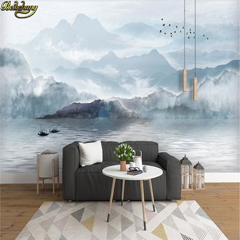 beibehang custom Ink painting fog landscape wallpaper for walls 3 d photo mural wallpapers living room decoration bedroom