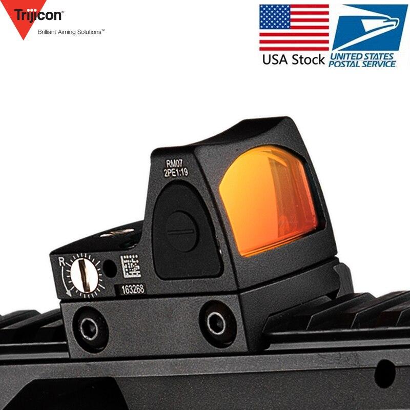 Mini RMR Red Dot Scope Ajuste/Glock Airsoft Mira Reflex Collimador 20mm Rail Weaver/Rifle de Caça Riflescope ak 47