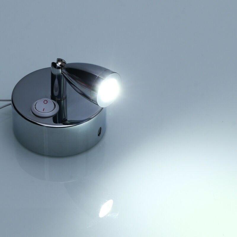 12V 24V LED Wall Spot Light Switch Bedside Reading Lamp Camper Boat Motorhome