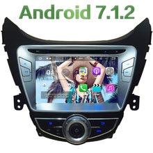 "8 ""2 ГБ Оперативная память Android 7.1.2 4 ядра dvd-плеер Радио стерео GPS Navi для Hyundai Elantra Avante I35 2011-2013 dab BT 4 г Wi-Fi"