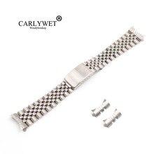 CARLYWET 13 17 19 20 22mm Hohl Gebogene Ende Feste Schraube Links Silber 316L edelstahl Ersatz Uhr Band strap Armband