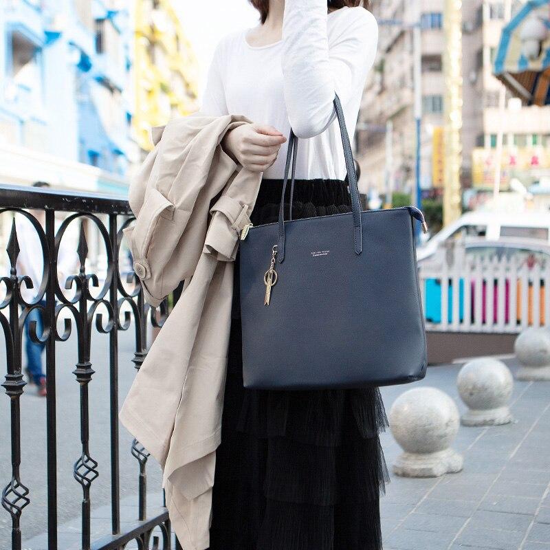 Image 4 - WEICHEN Large Capacity Women Handbag Ladies Top Handle Totes  Shoulder Bag Female Casual Tote Shopping Sac Big Travelling  BagTop-Handle Bags